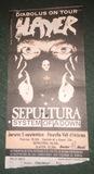 Entrada antigua Slayer/Sepultura 1998 - foto