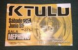 Entrada antigua de Ktulu de 1999 - foto