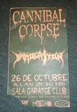 Entrada antigua Cannibal Corpse firmada! - foto