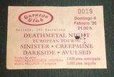 Entrada antigua Sinister/Creepmine 1996 - foto