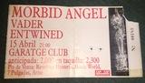 Entrada antigua Morbid Angel/Vader 1998 - foto