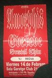Entrada antigua Amorphis/BrutalThin 1997 - foto