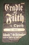 Entrada de Opeth/Cradle of Filth de 1996 - foto