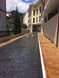 Pavimento de hormigon impreso madrid - foto