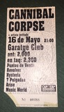 Entrada antigua de Cannibal Corpse! - foto