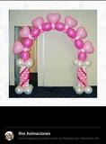 Arcos globos, bouquets, decoraciones - foto
