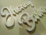letras corpóreas, rotulos - foto
