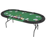 -Tablero póker plegable 3 partes 9 jugad - foto