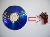 Paso cd o dvd a usb booteable de inicio. - foto