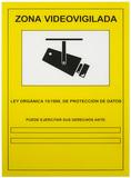 Cartel A4pvc exterior Zona Videovigilada - foto