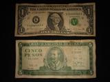dolar y peso cubano - foto