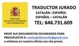Traductor jurado de catalán en tenerife - foto