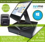 Pack TPV 15,6 Táctil con Software Sysme - foto
