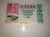 Billete de loterÍa mundial de fÚtbol 82 - foto