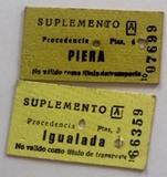 2 billetes Edmondson Piera y Igualada - foto