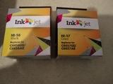 2 cartuchos de tinta hp 56 Y 57 C/N. - foto