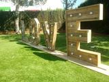 Letras gigantes bodas - foto