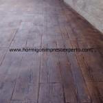 Pavimento de hormigón impreso e pulido - foto