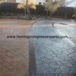 Pavimento continuo de hormigón impreso - foto