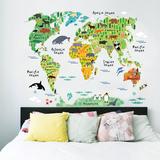 Envio gratis! vinilo pared mapa animales - foto