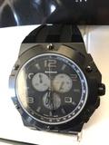 Reloj suizo sandoz crono acero ip negro - foto
