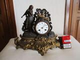reloj de bronce japy freres,paris,1.855. - foto