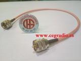 50Cm Cable Baja Perdida RG-142 Latiguill - foto