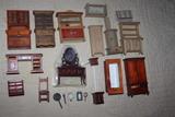 Lote de mueble de casita de muÑecas - foto