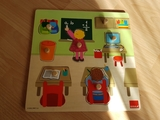 Puzzle Bebe Encajables Madera GOULA - foto