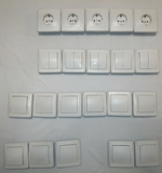 juego interruptores y enchufes - foto