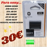 bateria recargable para sony - foto