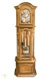 reloj antiguo de pie con 3 pesas - foto