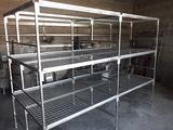 Se acen mesas de cultivo en hierro galva - foto