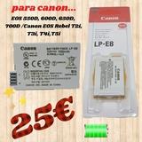 bateria recargable para canon LP-E8 - foto