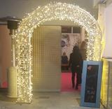 arcos decorativos para bodas luces - foto