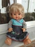 Muñeca nenuco,  famosa.vestido vaquero. - foto