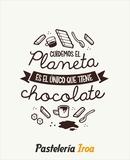 Estor digital  frase chocolate para empr - foto