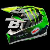CASCOS BELL DE MOTO CROSS REPLICA MONSTE - foto