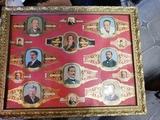 lote de 14 antiguas vitolas en el cuadro - foto