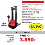 APILADOR ELÉCTRICO 3. 000MM/HC//NUEVO// - foto