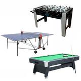 Lote Billar + Futbolin + Ping Pong - foto