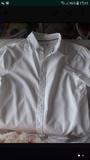 camisa blanca 9-10 años manga larga - foto