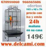 JAULA DE LOROS 165X82X78 CON ENVIO 24H - foto
