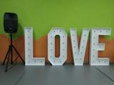 Letras grandes love - foto