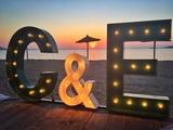 letras con luces - foto
