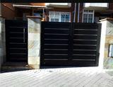 Puerta Peatonal De Lamas Inox Aluminio S - foto