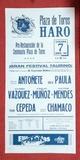 CARTEL DE TOROS DE  HARO 1990.  - foto