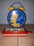 Reloj Los Simpson, flauta y Parchis - foto