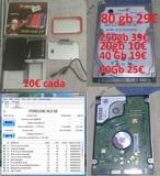 Disco duro 250 80 60 40 gb toshiba sata - foto