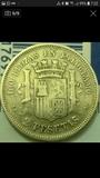 una peseta de 1870 - foto